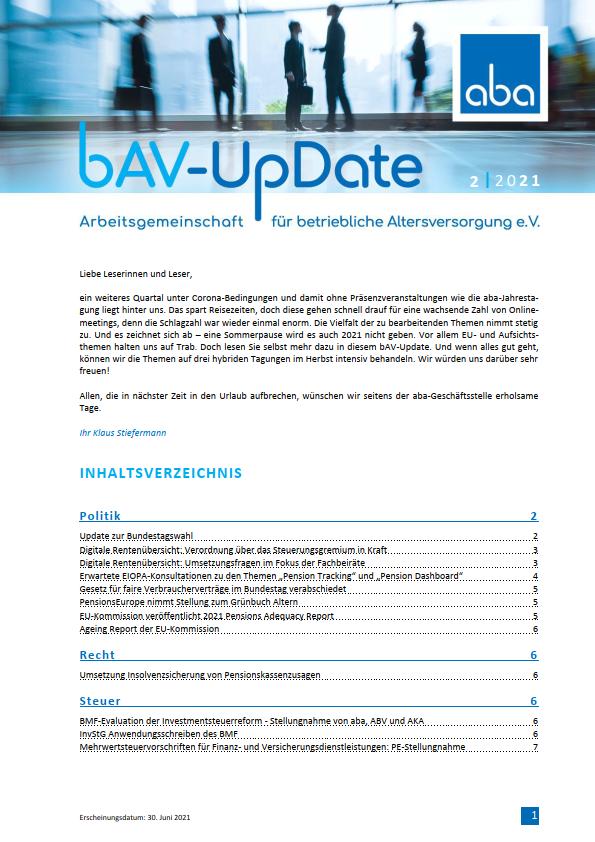 bAV-Update 2/2021