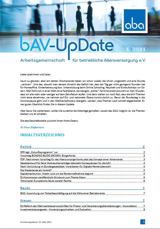 bAV Update 1|2021